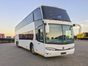 Used 2007 Volvo B12R with Marcopolo Paradiso G6 1800 Double Decker Coach - 60 seater bus with 592 355km for sale.